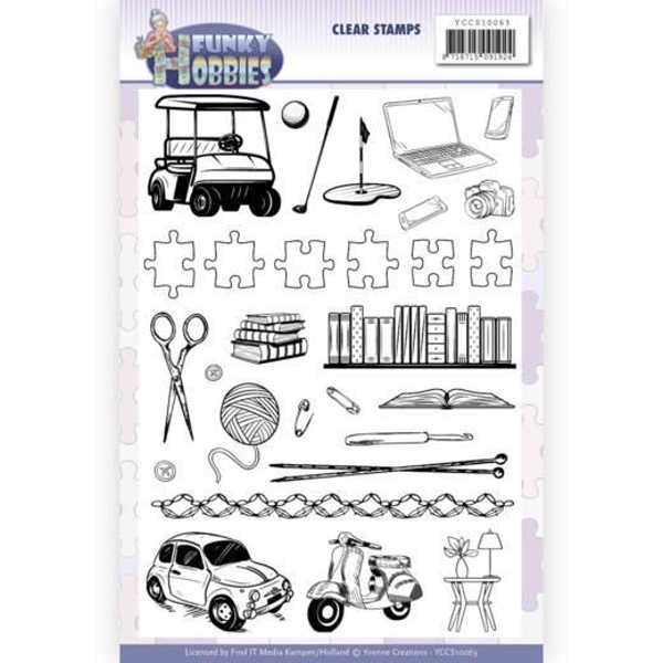 Funky Hobbies - Stempel / Clearstamp