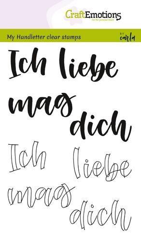 Handletter - Ich liebe dich - Clear Stamp - Stempelplatte von Craft Emotions (130501/1855)