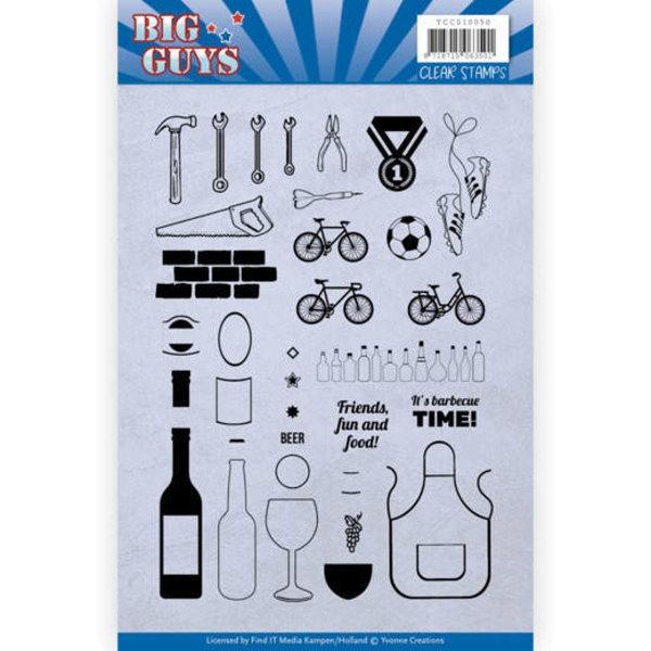 Big Guys - Clearstamp / Stempel von Yvonne Creations (YCCS10050)