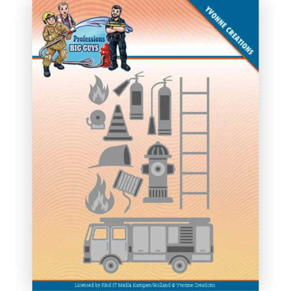 Fire Department - Big Guys - Professions Collection von Yvonne Creations (YCD10239)