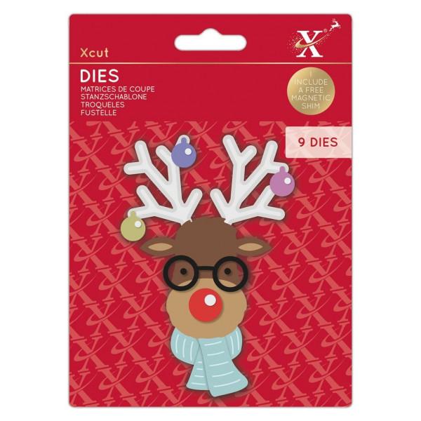 Build A Reindeer / Rentier - Stanzschablone - Dies von XCUT (XCU 503523)