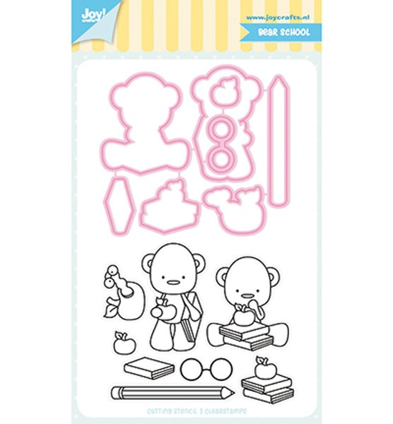 Bear School - Stanzschablone / Stempel-Set