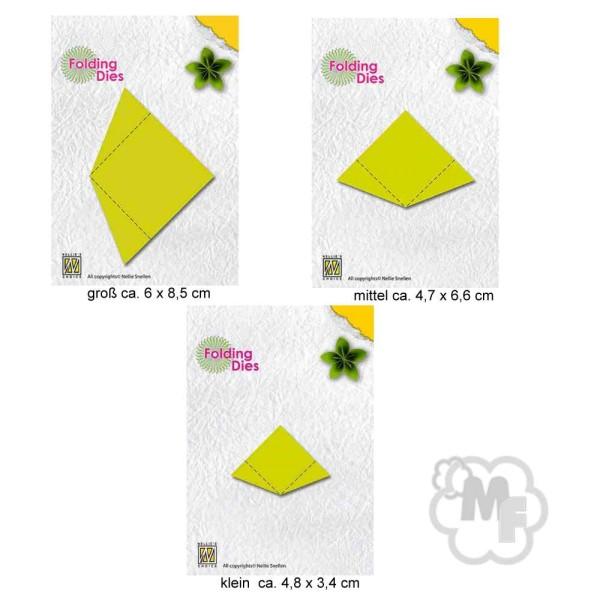 Blumen / Blüten in 3 versch. Größen - Rosette Folding Dies Collection von Nellie´s Choice