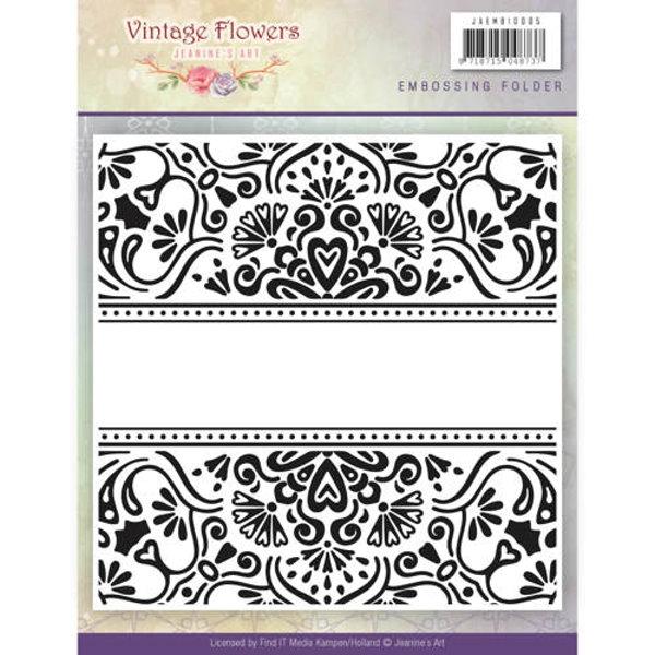Vintage Flowers - Vintage Flowers Collection - Prägeschablone / Embossing-Folder