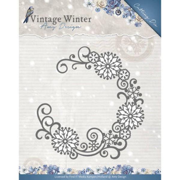Snowflake Swirl Round - Stanzschablone
