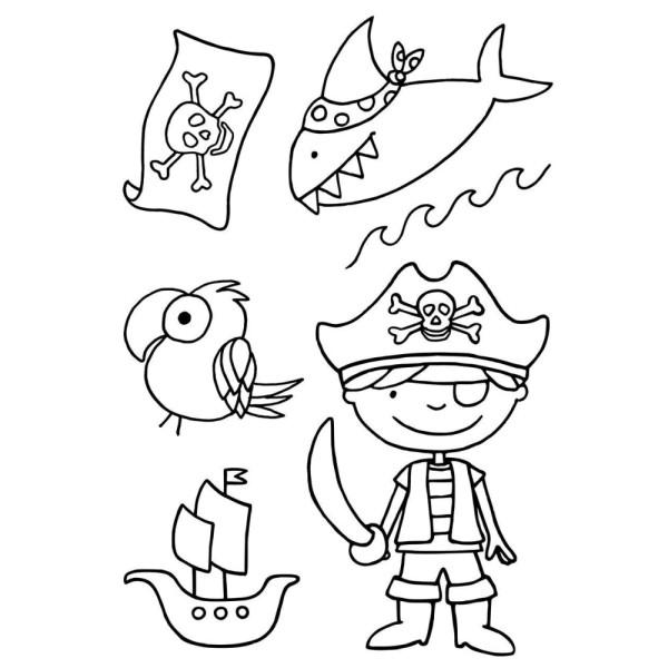 Pirat - Stempel - Clearstamp