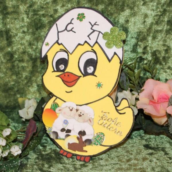 Grusskarte zum Osterfest - Hasenform