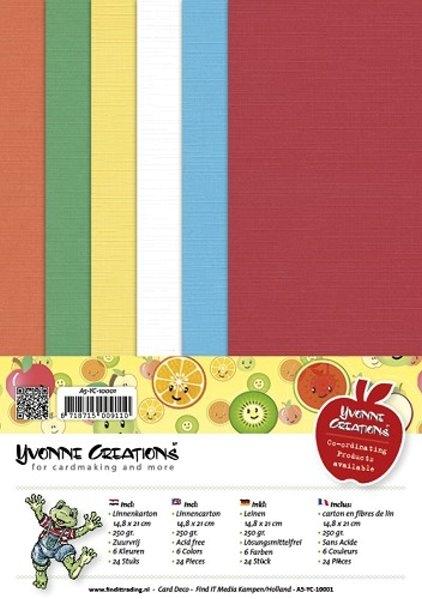 Leinenpapier-Set - Gute Besserung - Yvonne Creations - DIN A5