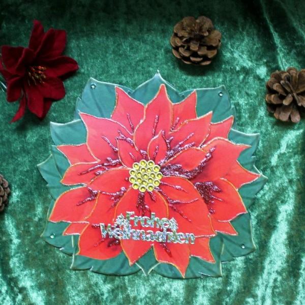 XL-Grusskarte zum Weihnachtsfest in Form eines Weihnachtssternes
