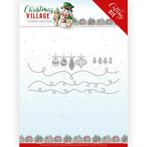 Christmas Lights / Lichterkette - Christmas Village - Stanzschablone