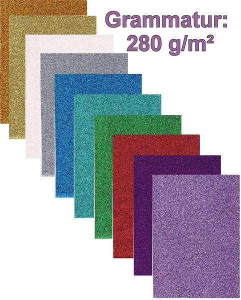 Glitterpapier 280g
