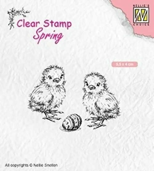 "Spring ""Chicken and Easter Egg"" - Stempel / Clearstamp"