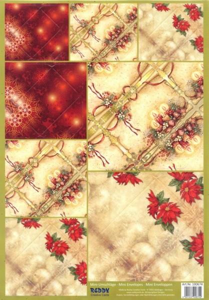 Mini-Umschläge Weihnachten 3 - 8er-Set