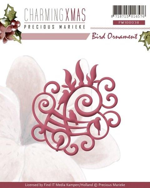 Vögel -/ Bird Ornament - Stanz- und Prägeschablone