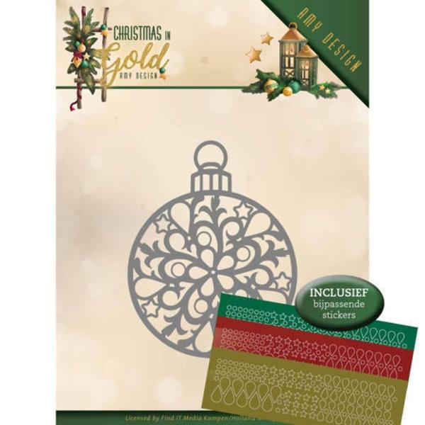 Christmas Bauble - Stanzschablone + Hobbydots (Sticker)