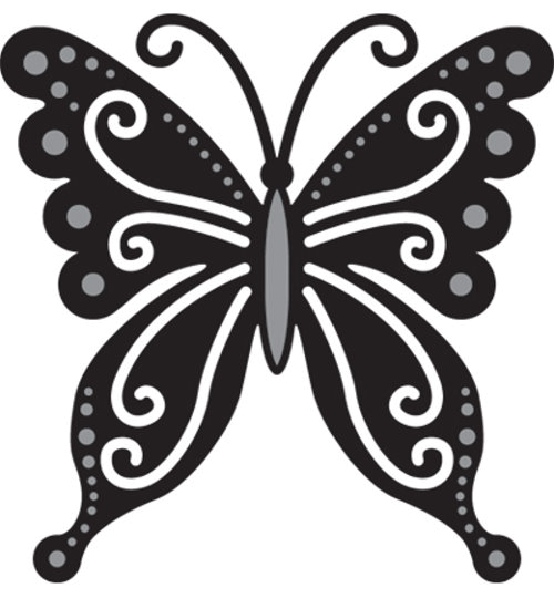 Stanz- und Prägeschablone - Schmetterling