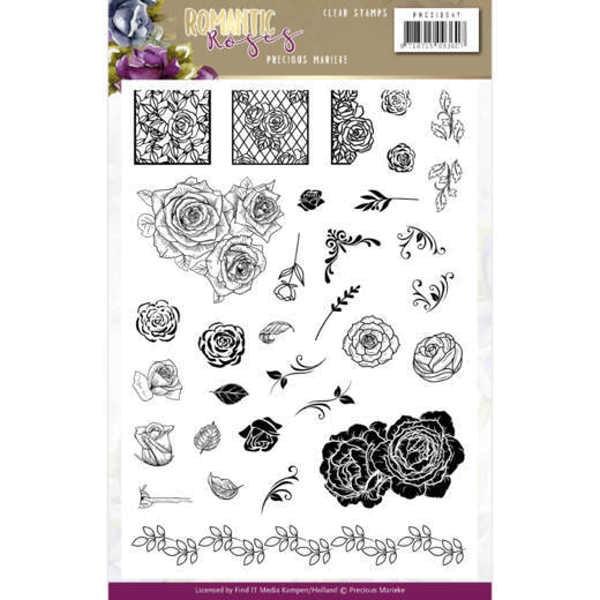 Romantic Roses - Clear Stamp - Stempelplatte von Precious Marieke (PMCS10047)