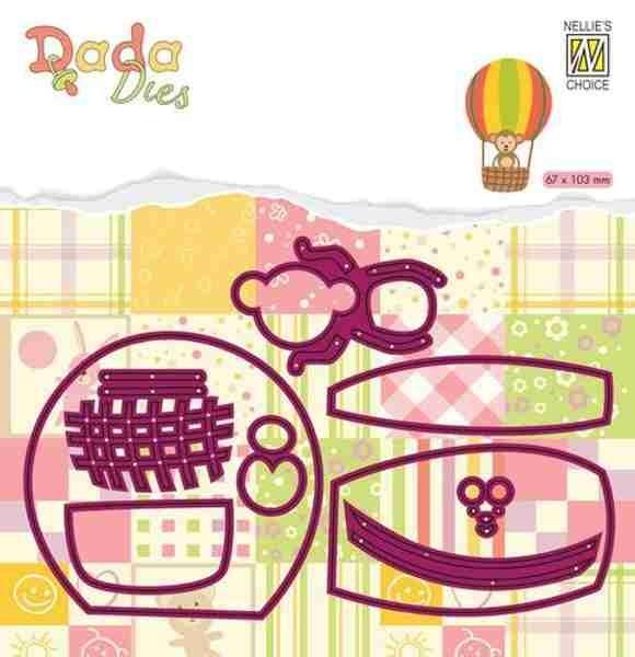 Affe im Heißluftballon - DADA Baby Dies Collection von Nellie´s Choice (DDD023)