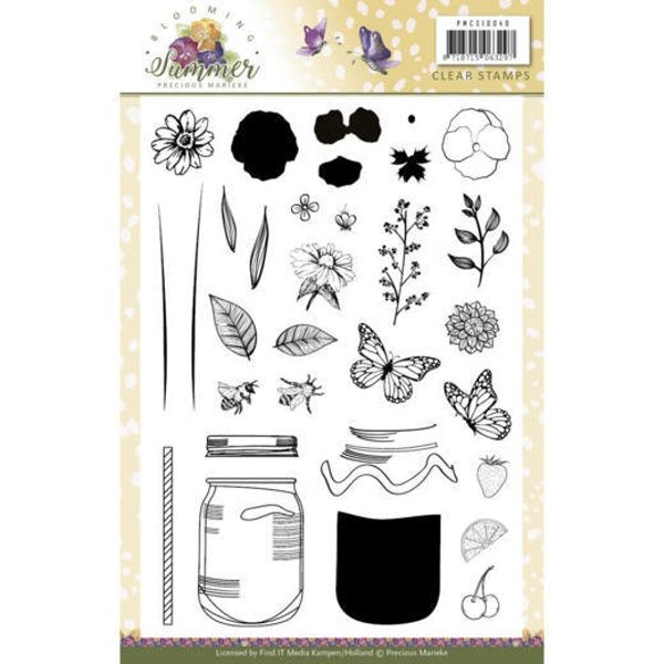 Blooming Summer - Clearstamp / Stempel
