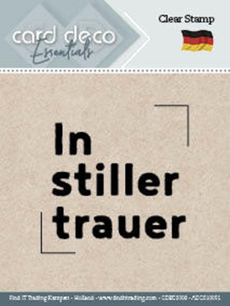 In stiller Trauer - Textstempel - ClearStamp