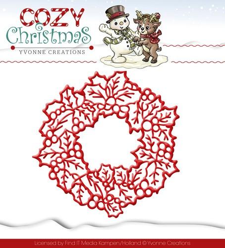 Wreath / Kranz Stanzschablone von Yvonne Creations