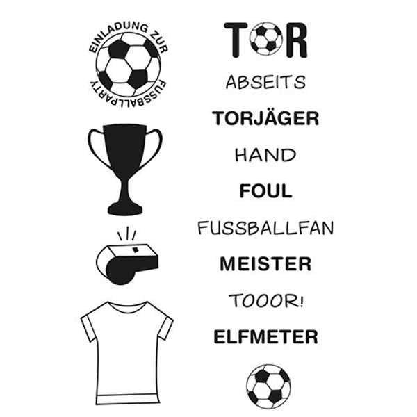 Fußball - Stempel / Clearstamp