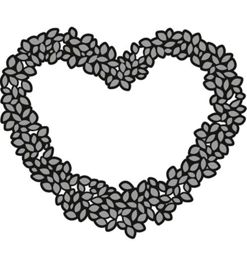 Topiary Heart / Herz - Stanzschablone