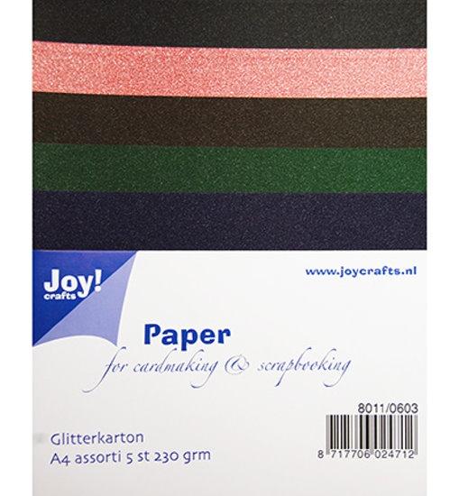 Glitterkarton / Glitterpapier - Set 3