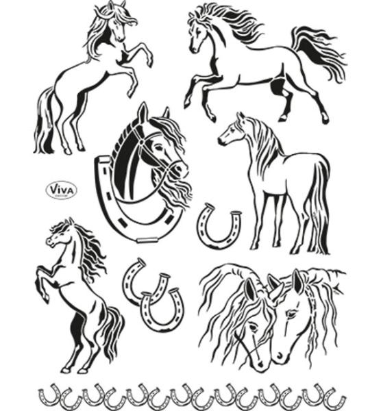 Pferde - Stempel / Clearstamp