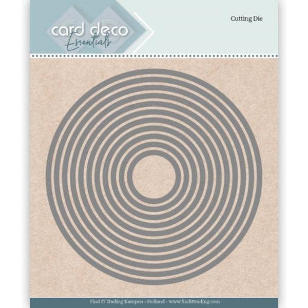 Round (11 Kreise) - Essentials-Stanzschablone