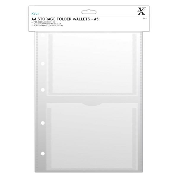 Stempelhüllen DIN A4 - 2x A5 (5 Stück) von X-CUT (XCU 245103)
