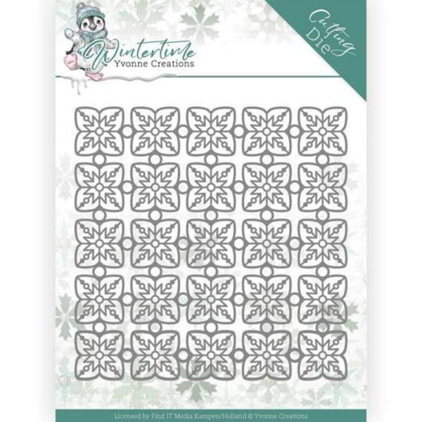 Snowflake Pattern - Winter Time - Stanzschablone