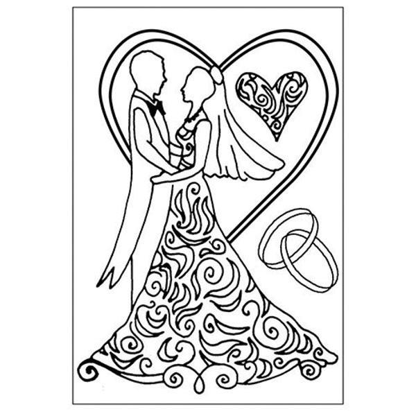 Hochzeit - Stempel - Clearstamp