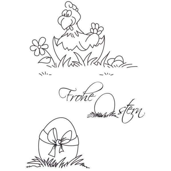 Frohe Ostern 2 - Stempel - Clearstamp