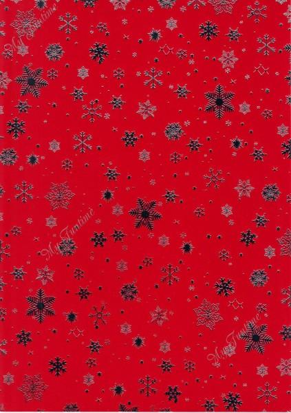 """Deko - Karton """"Weihnachten"""" in Rot - Silber"""