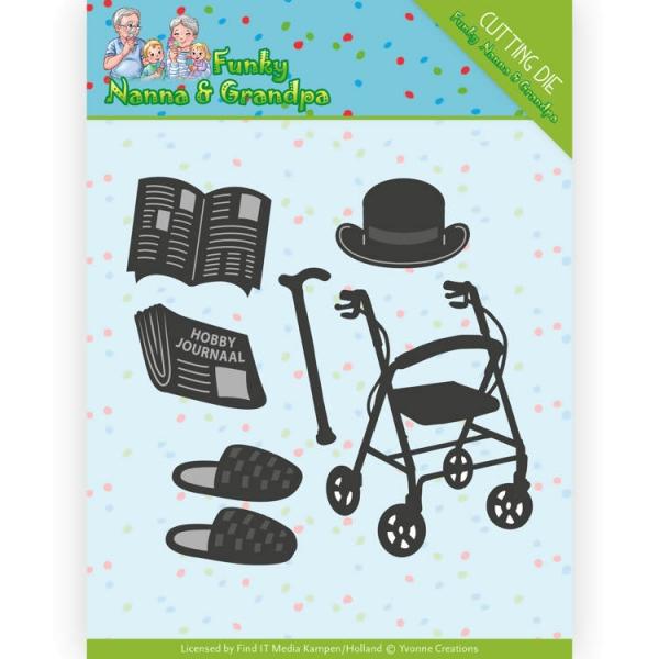 Grandpa Accessories - Stanzschablone