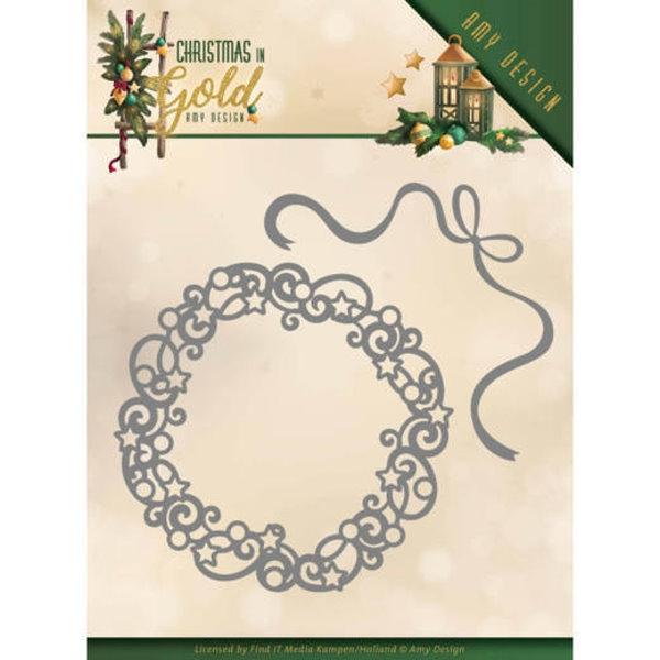 Christmas Wreath / Kranz - Stanzschablone