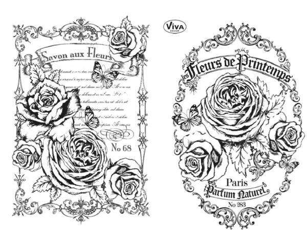 Collagenstempel Fleurs de Printemps Stempel - Clearstamp