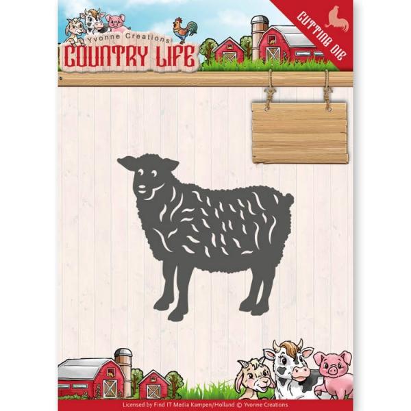 Schaf / Sheep - Country Life - Stanzschablone