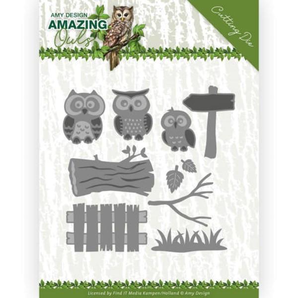 Eulenfamilie / Owl Family - Amazing Owls - Stanzschablone