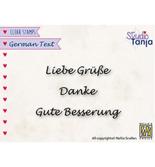 Liebe Grüße ... - Clear Stamp / Stempelplatte von Nellies Choice by Studio Tanja (GTCS001)