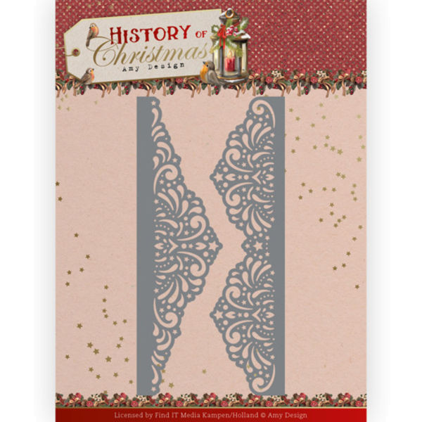 Lacy Christmas Border - History of Christmas Collection von Amy Design (ADD10247)