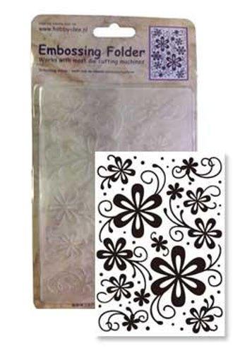 Blumen / Blüten - Prägeschablone / Embossing Folder