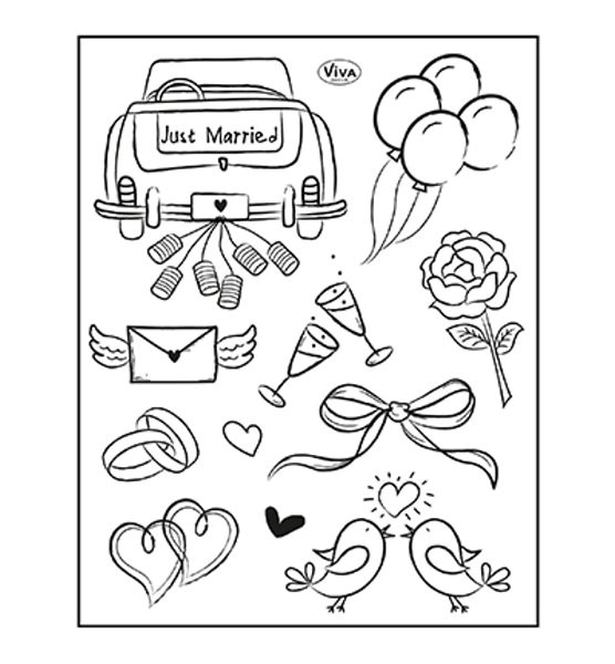 Just Married - Stempel - Clearstamp