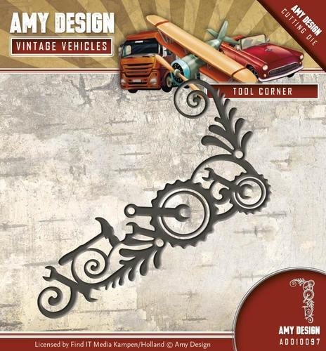 Tool corner- Vintage Vehicle - Stanzschablone