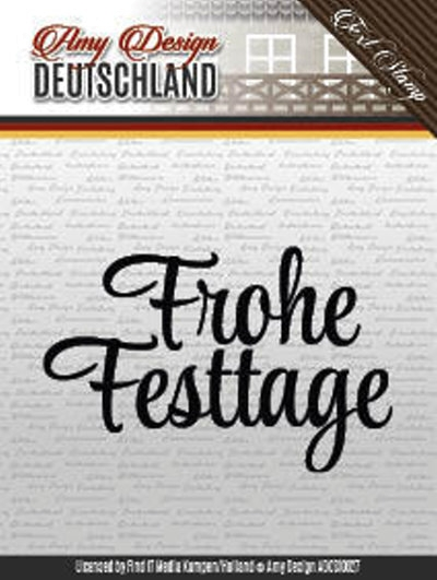 Textstempel: Frohe Festtage - Clearstamp