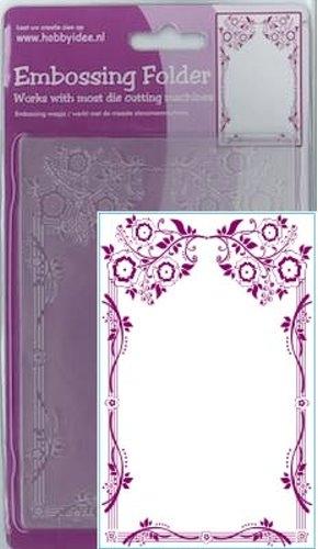Blumen Ornament - Prägeschablone / Embossing Folder