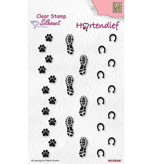 Silhouet - Footprints - Clear Stamp / Stempelplatte von Nellie´s Choice (SIL095)