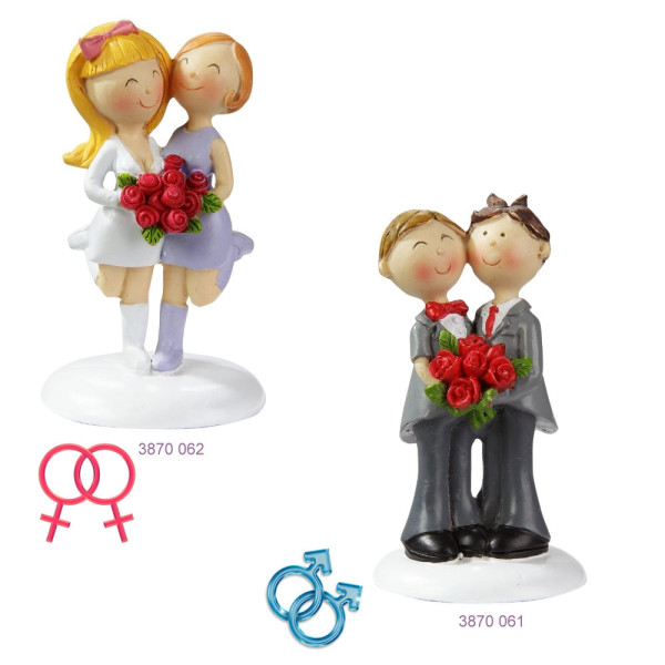 Hochzeitspaar Männer oder Frauen von HobbyFun (CREApop®)