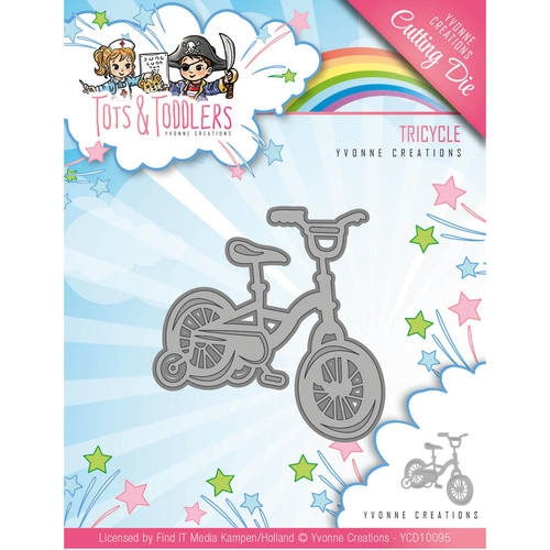 Kinderfahrrad - Tots and Toddlers - Stanzschablone